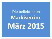 Die beliebtesten Markisen im März 2015