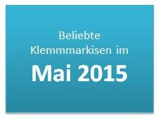 Beliebte Klemmmarkisen im Mai 2015
