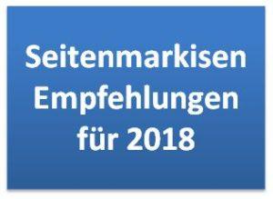 Seitenmarkisen Empfehlungen 2018