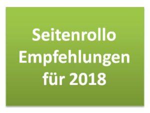 Seitenrollo Empfehlungen für 2018